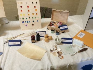 Pigments, ink, and paint-making supplies